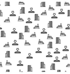 industrial construction seamless pattern vector image