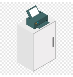 Isometric laser printer icon vector