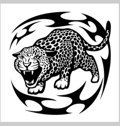 Jaguar tribal tattoo vector