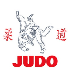Judo sport t-shirt graphic print vector