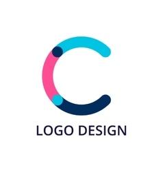 letter logo c vector image