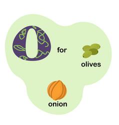 letter o for children alphabet vector image
