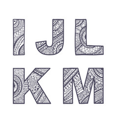 letters set i-m vector image