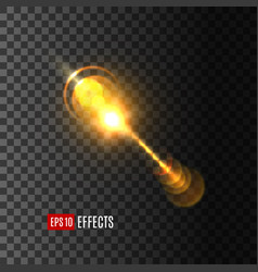 light flash effect or lens flare shine icon vector image