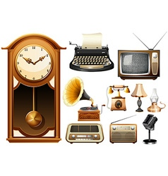 Many kind of antique electornic devices vector image