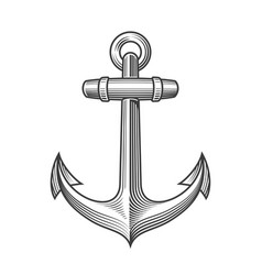 Nautical anchor with rope vector