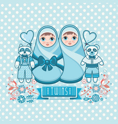 Newborn little bamatryoshka vector