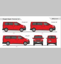 Peugeot expert pass van l1 l2 l3 2016-present vector