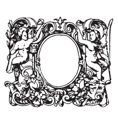 Printers-mark typographical frame was designed vector