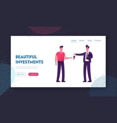 realtor selling or renting house website landing vector image