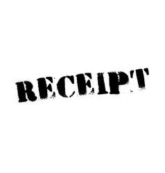 Receipt black stamp vector