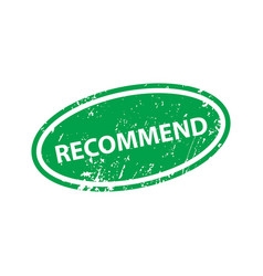 recommend sign sticker stamp texture vector image