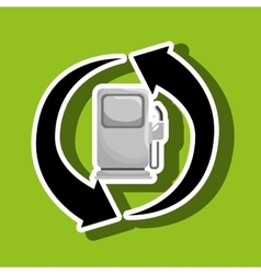 Renewable gas isolated icon design vector