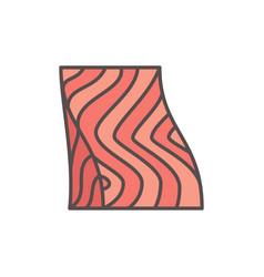 Salmon steak flat icon fish fillet vector