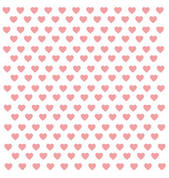 Seamless pattern with pink hearts abstract vector