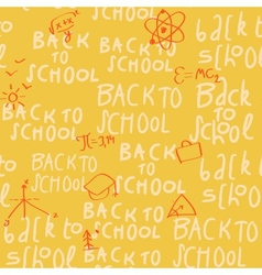 Seamless yellow school pattern vector image
