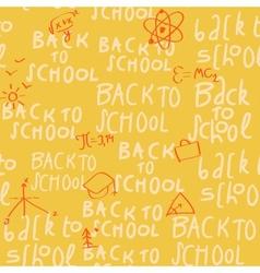 seamless yellow school pattern vector image