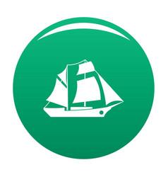 ship excursion icon green vector image