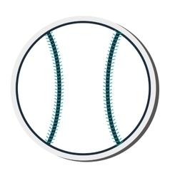 Single baseball icon vector