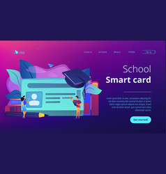 smartcards for schools concept vector image