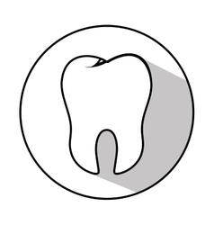 Teeth emblem isolated icon vector