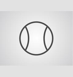 tennis icon sign symbol vector image