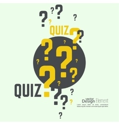 Time for questions and answers vector