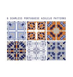 traditional ornate portuguese decorativ vector image