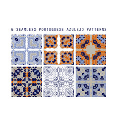 traditional ornate portuguese decorative vector image