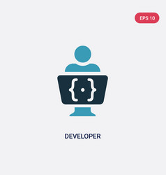 two color developer icon from programming concept vector image