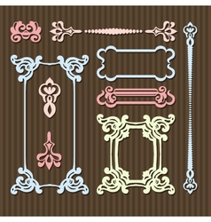 typographic vintage frames vector image