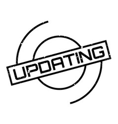 updating rubber stamp vector image