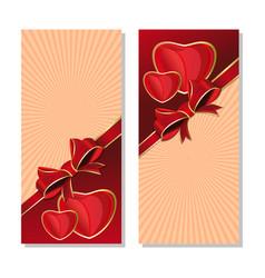 vintage background for valentines day vector image