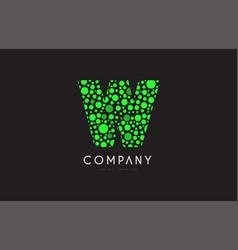 w letter bubble green logo icon design vector image