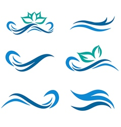 Water Wave and Spa Logo vector image