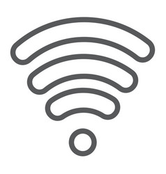 wi-fi line icon wireless and communication vector image