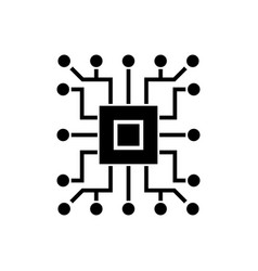 computer science - circuit icon vector image