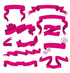 horizontal cartoon ribbon banners set of vector image vector image