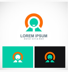 leader icon logo vector image