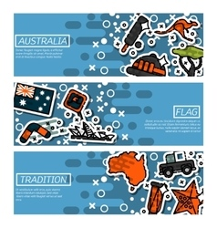 Set of Horizontal Banners about Australia vector image vector image