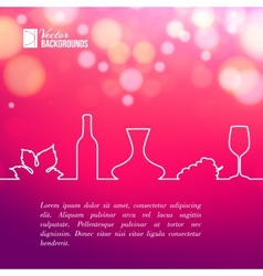Style line of vine design vector image vector image