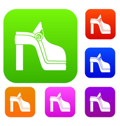 women shoe set collection vector image vector image