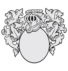 aristocratic emblem No2 vector image vector image
