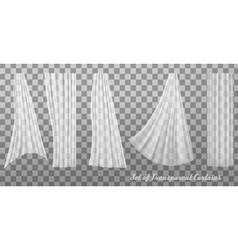 Collection of transparent curtains vector image vector image
