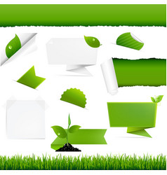 ecogy green set vector image vector image