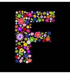 f vector image vector image