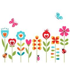 Flower hearts design vector image vector image