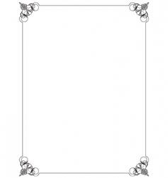 ornate border vector image vector image