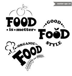 simple food llogos vector image vector image