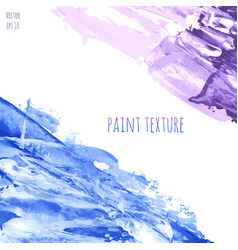 blue and violet marble hand painted texture vector image